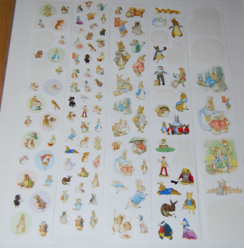 Beatrix potter mini stickers