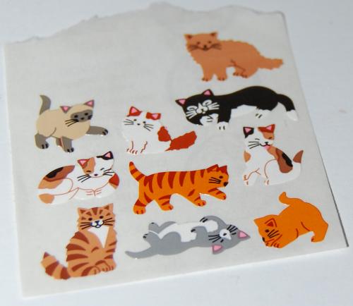 Mini kitties stickers