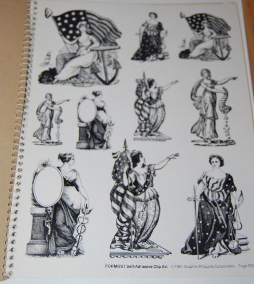 Victorian days clip art stickers 4