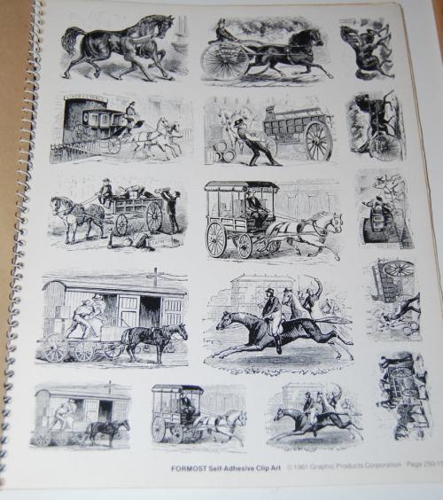 Victorian days clip art stickers 7