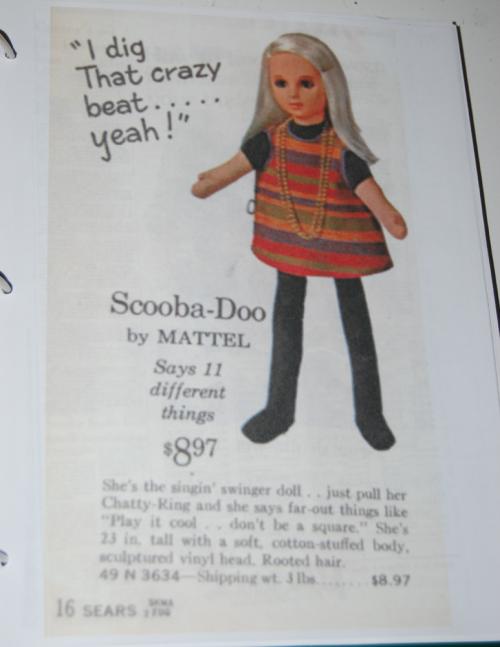 Vintage ad scooba doo doll