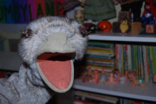 Folkmanis ostrich puppet x