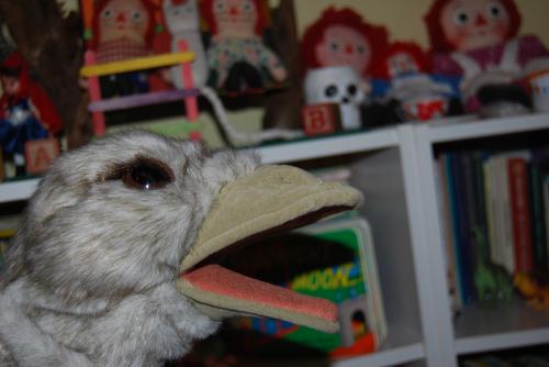 Folkmanis ostrich puppet 2
