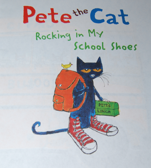 Pete the cat roking in my school shoes book