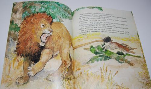 Rabbit makes a monkey of lion 4