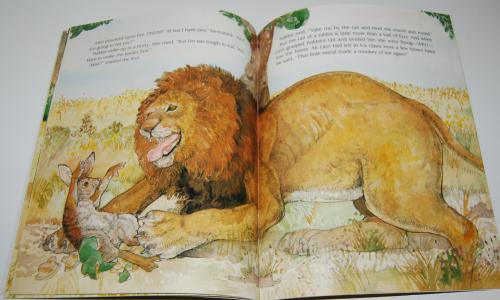 Rabbit makes a monkey of lion 8