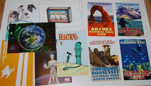 Postcard ephemera