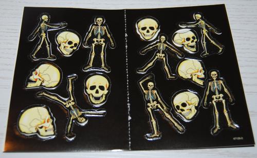 Skeletons glow in the dark stickers x
