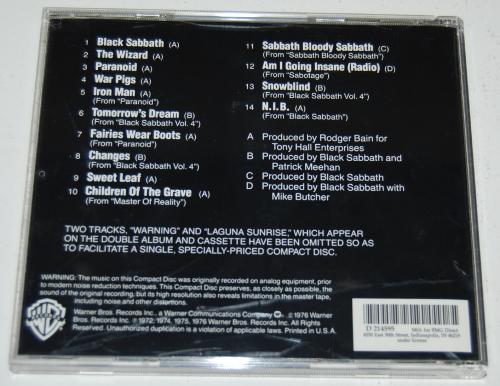 Black sabbath cd x