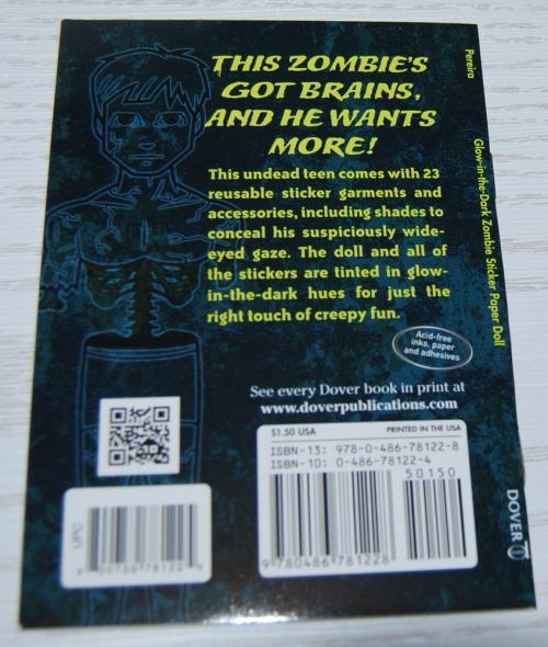 Glow in the dark zombie dover mini book x