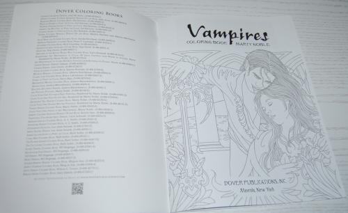 Dover vampires coloring book 2