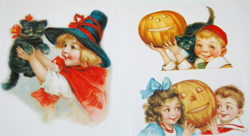 Halloween vintage labels 1