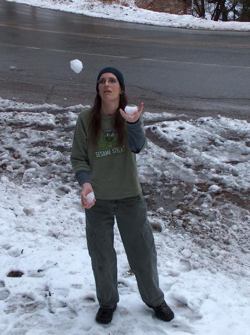 juggling snowballs...