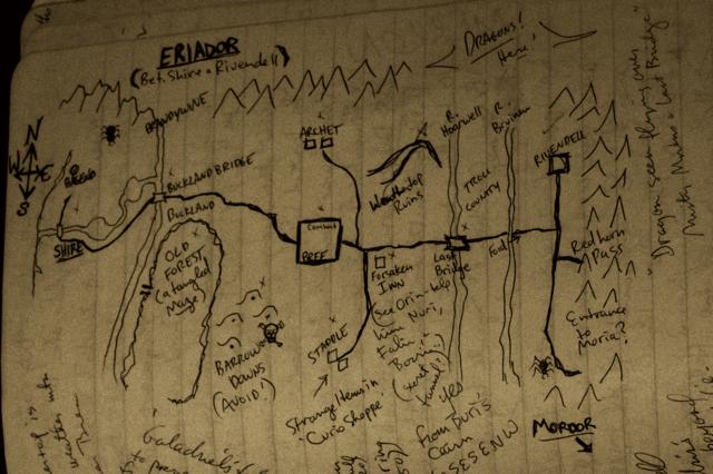 early rpg maps ~ eriador