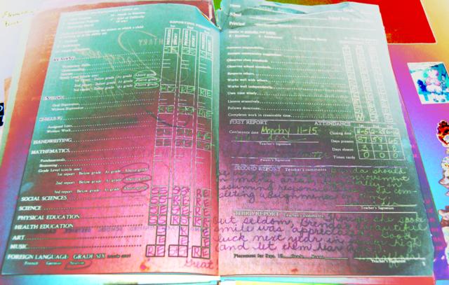 elementary school report card